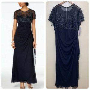 Xscape Petites Beaded Ruffled Evening Dress 1050XP